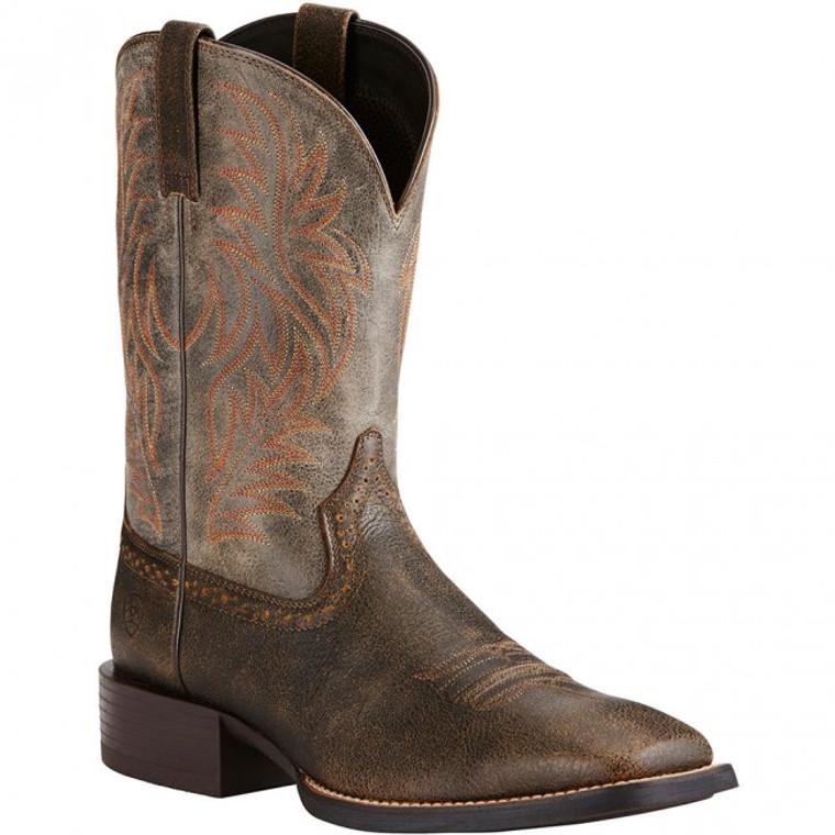 Ariat Men's Sport Western Boots - Brooklyn Brown - 10019958