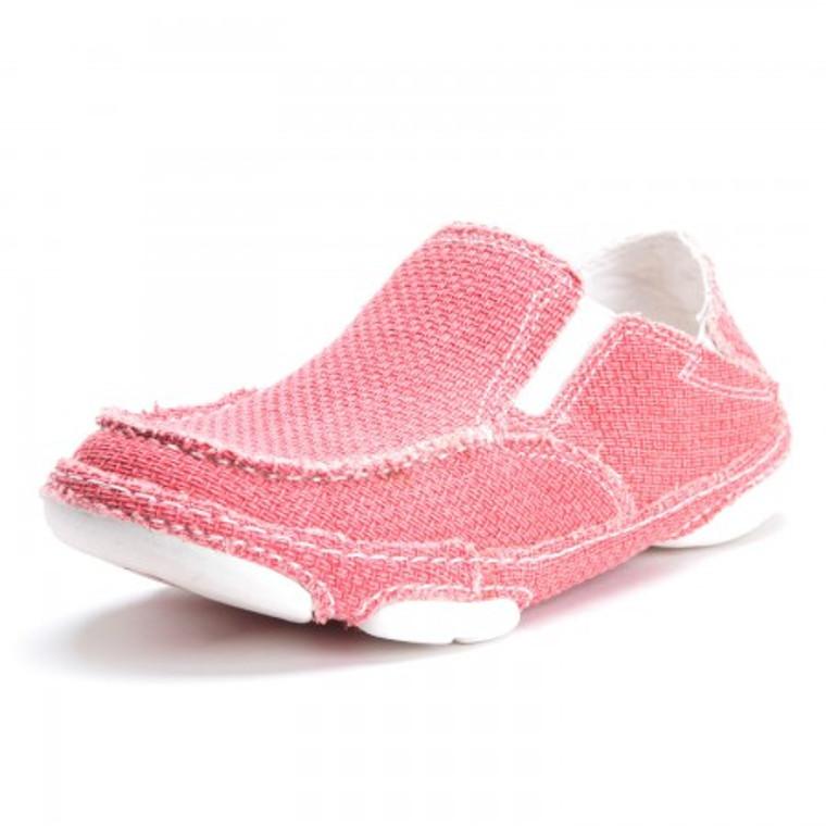 Tony Lama Ladies' 3R Casual Canvas Shoe Lipstick Pink - RR3039L