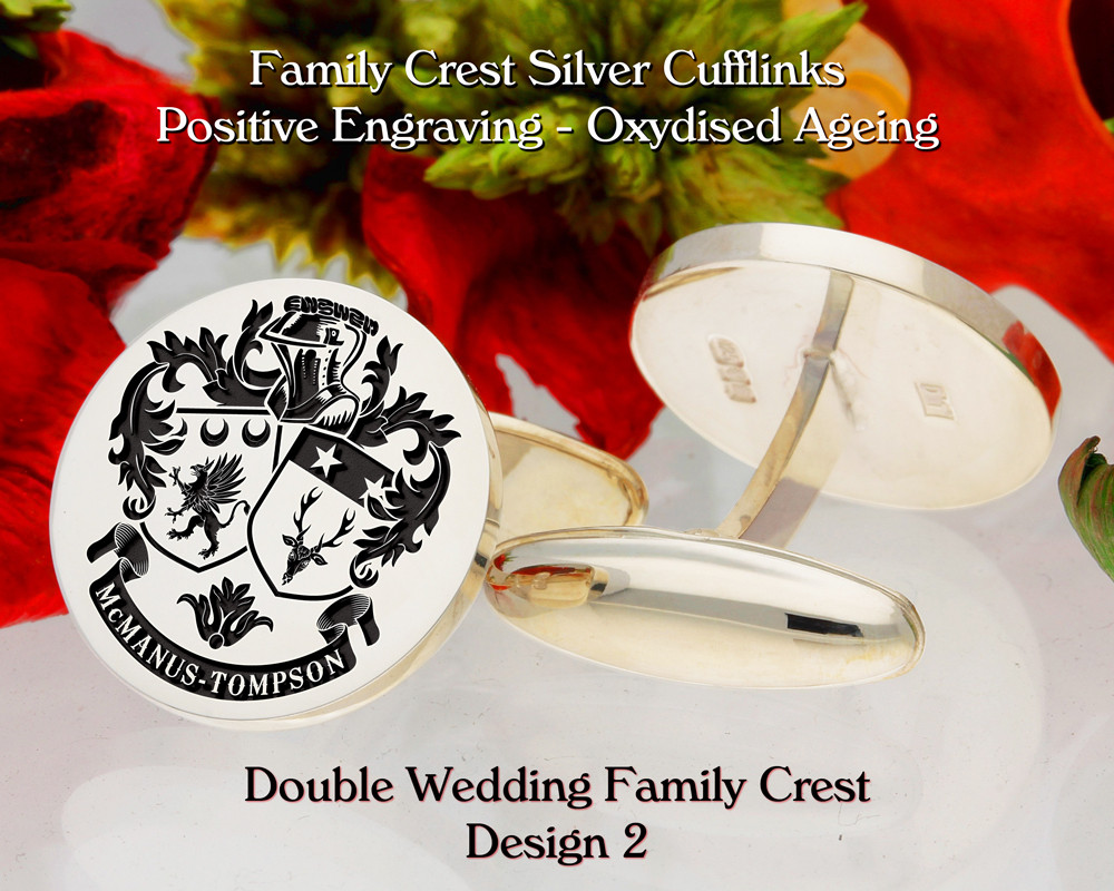Double Wedding Family Crest Cufflinks D2