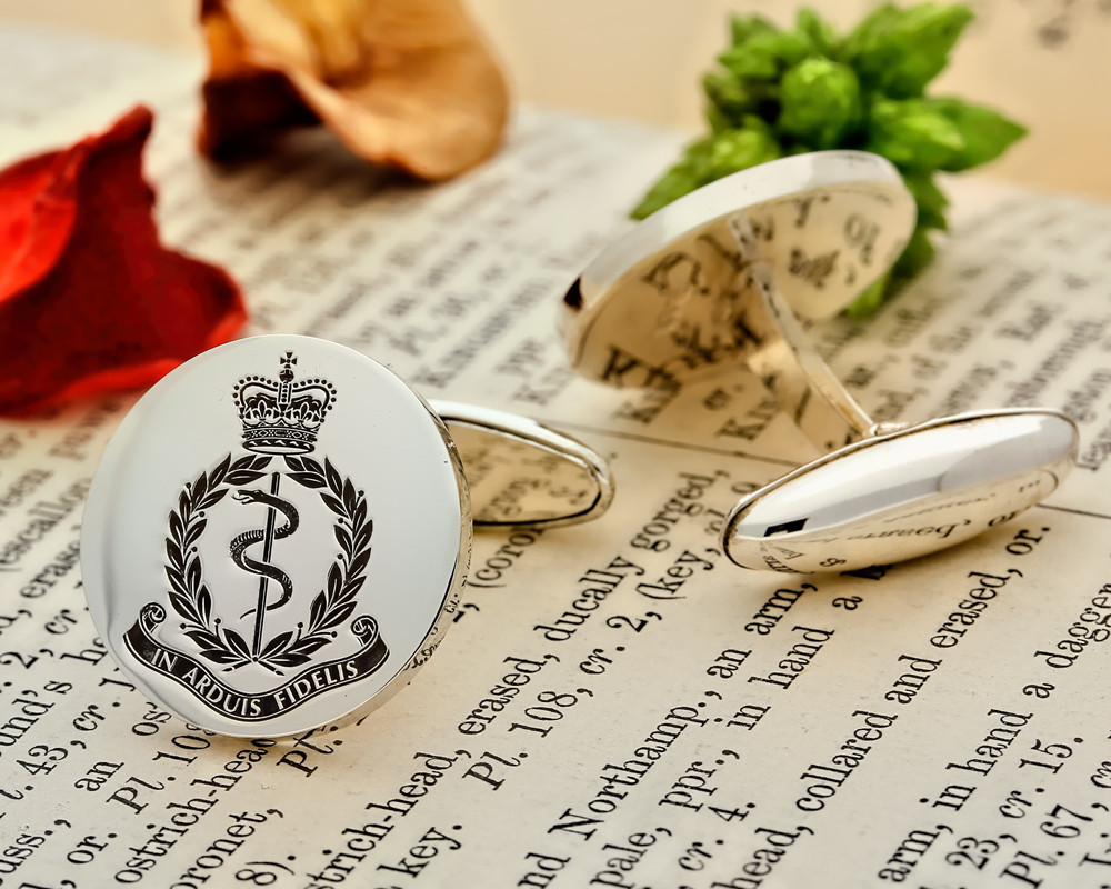 Royal Army Medical Corps Silver or 9ct Gold Cufflinks