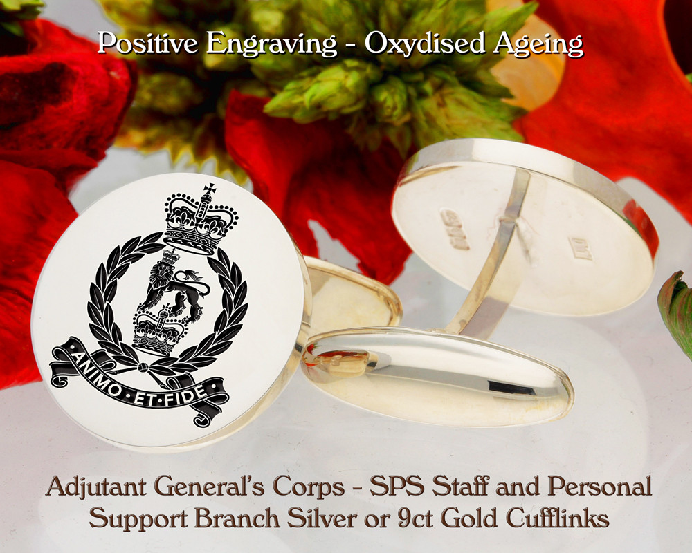 AGC Corps - SPS Staff and Personal Support Branch Cufflinks