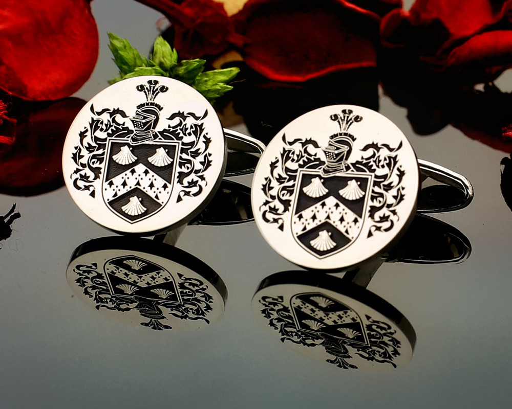 Townsend Family Crest Cufflinks in Sterling Silver or 9ct Gold