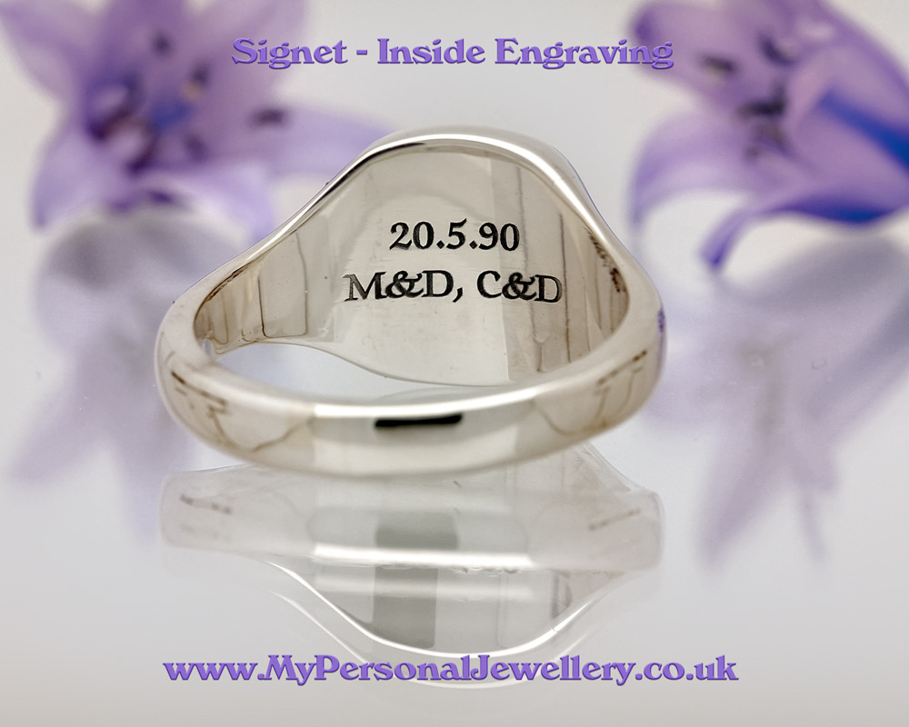 Signet Ring - inside engraving, space limited to the size of your ring.
