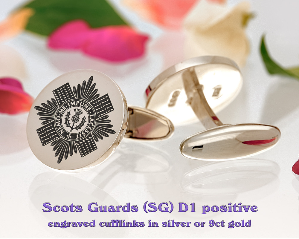 Scots Guards British Army Cufflinks D1 Positive