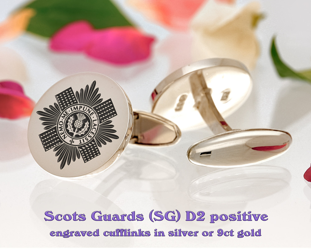 Scots Guards British Army Cufflinks D2 Positive