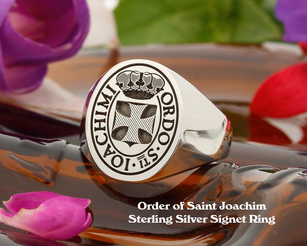 Order of Saint Joachim Sterling Silver Signet Ring