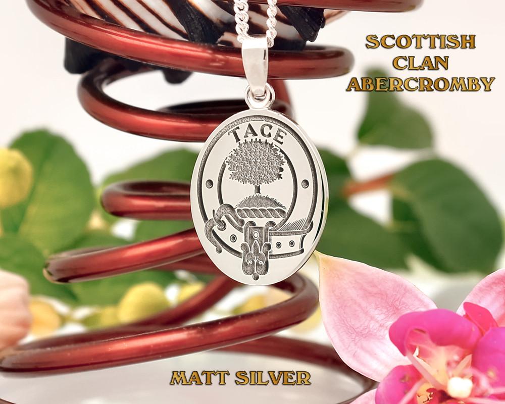 Abercromby Scottish Clan Pendant Oval