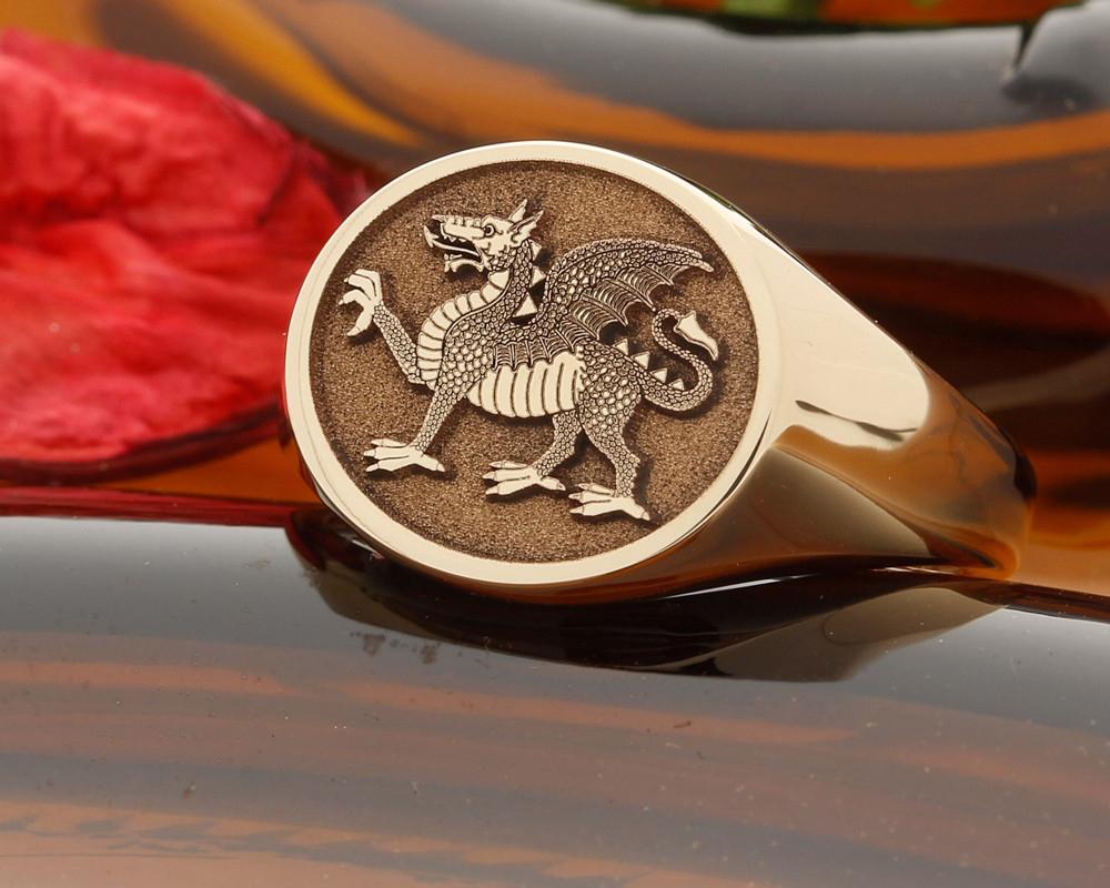 BUFFS (Royal East Kent Regiment) Silver or 9ct Gold Signet Ring Matt Finish