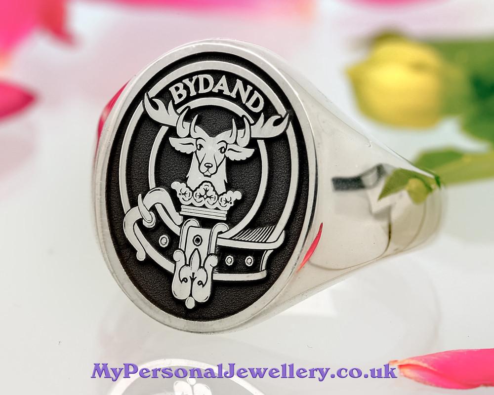 Gordon Scottish Clan Signet (example silver negative oxidised Oval)