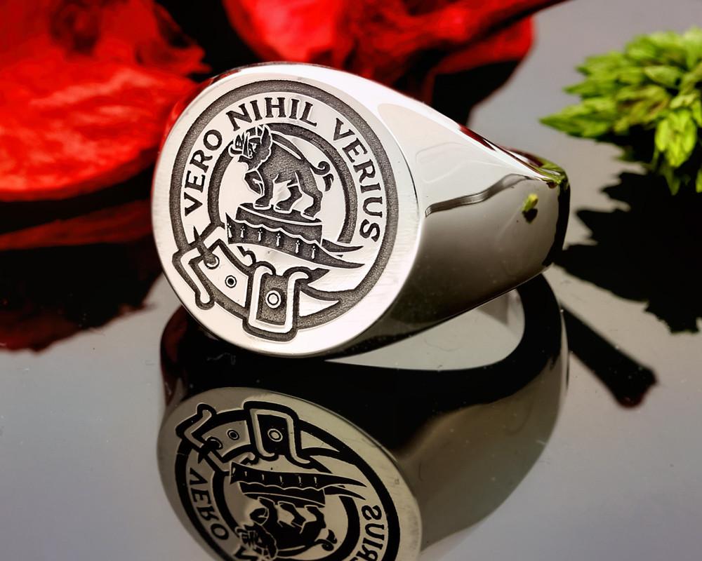 Weir Scottish Clan Signet Ring (example round silver)