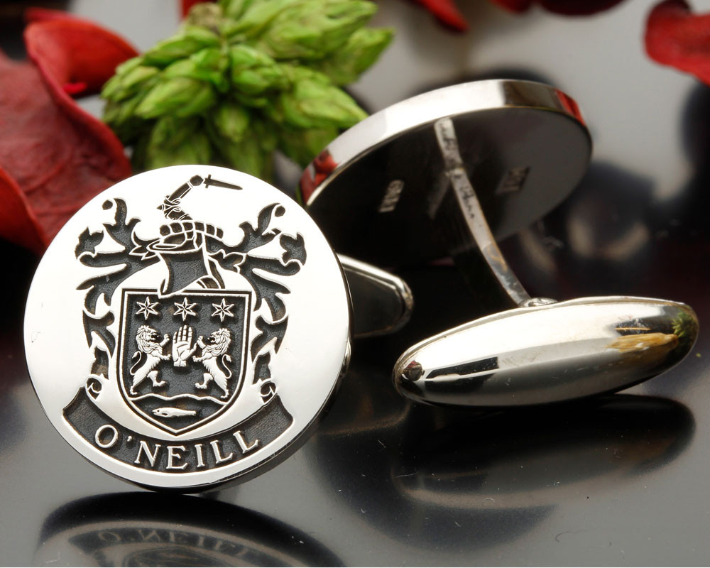 Select Gifts Ogg Scotland Heraldry Crest Sterling Silver Cufflinks Engraved Message Box