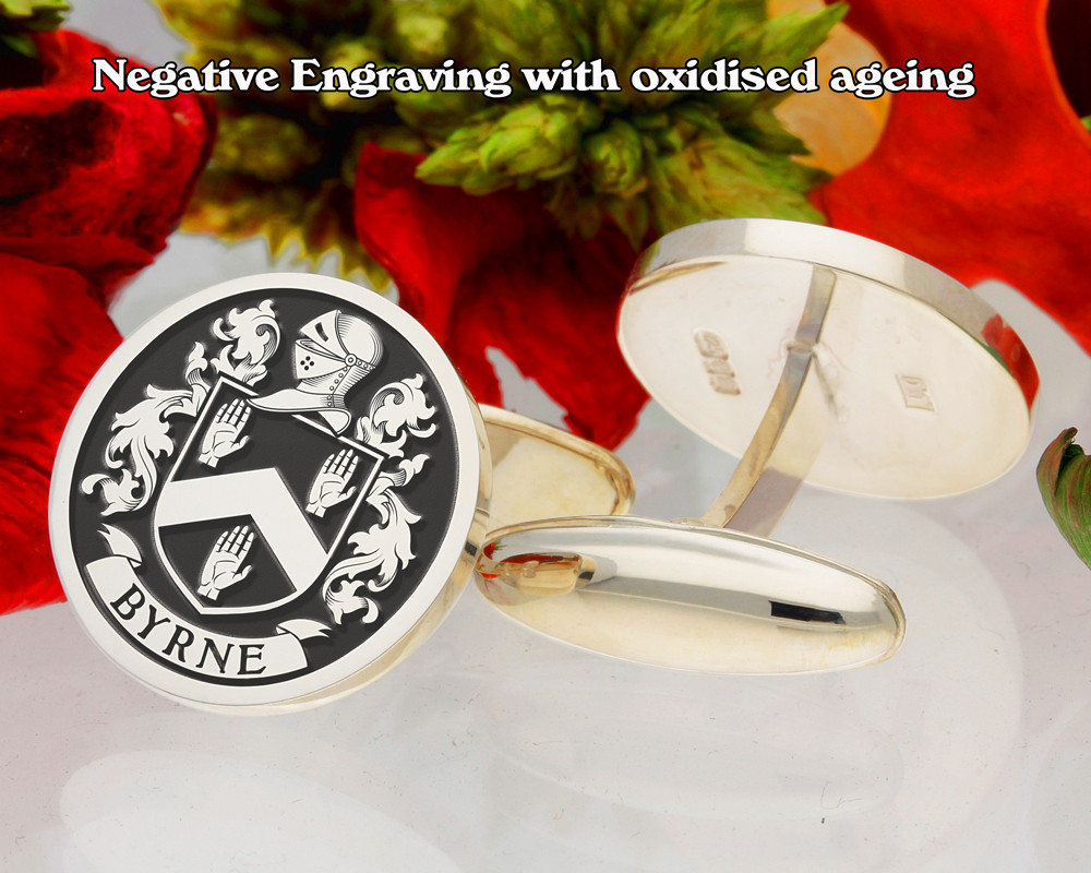 Select Gifts Ker Ireland Heraldry Crest Sterling Silver Cufflinks Engraved Message Box