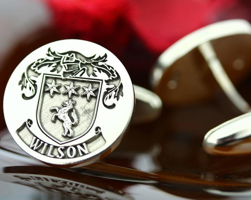 Select Gifts Torkington England Heraldry Crest Sterling Silver Cufflinks Engraved Box