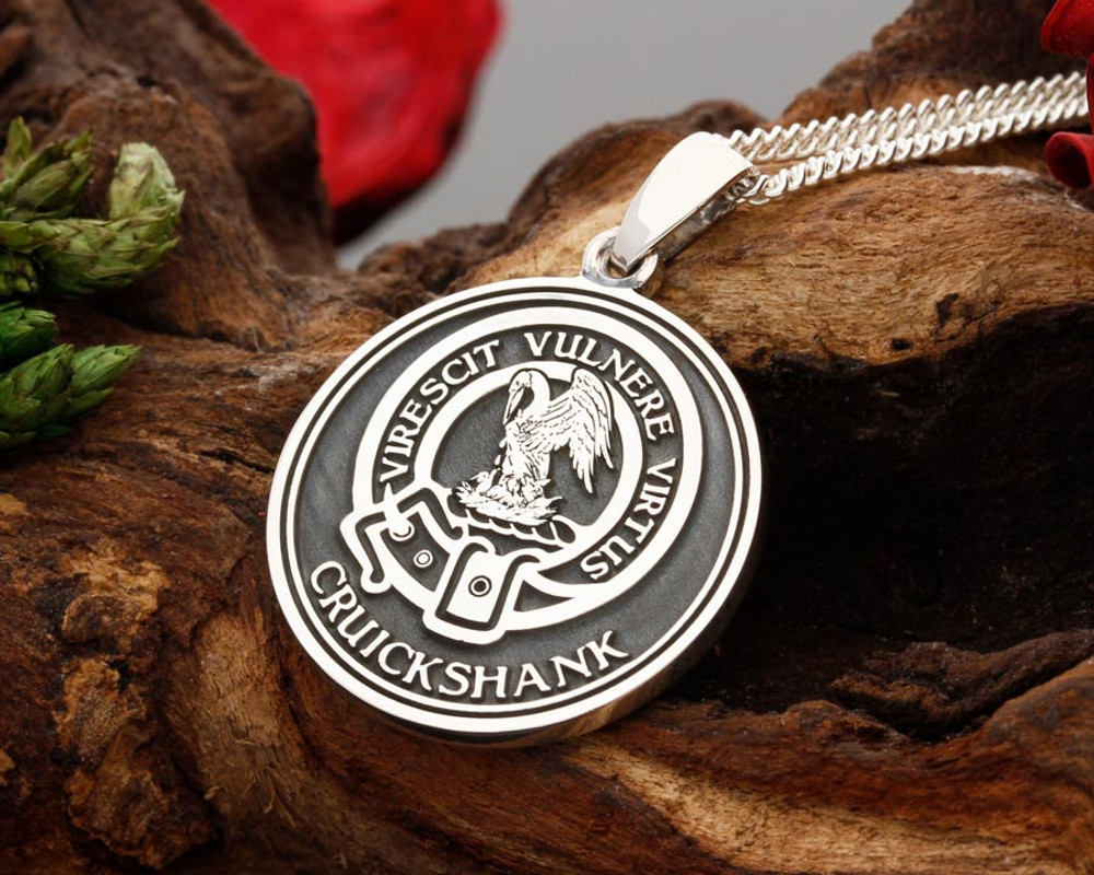 Stewart Scottish Clan Silver Pendant - add your own text or just the design