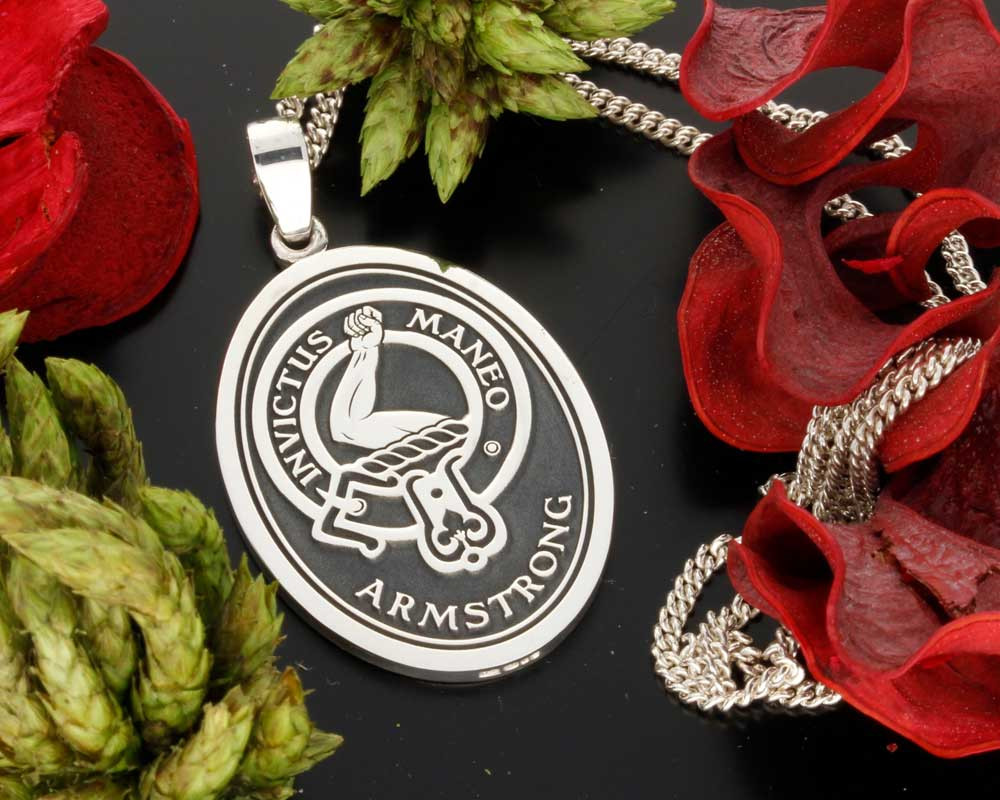 Armstrong Engraved Scottish Clan Pendant