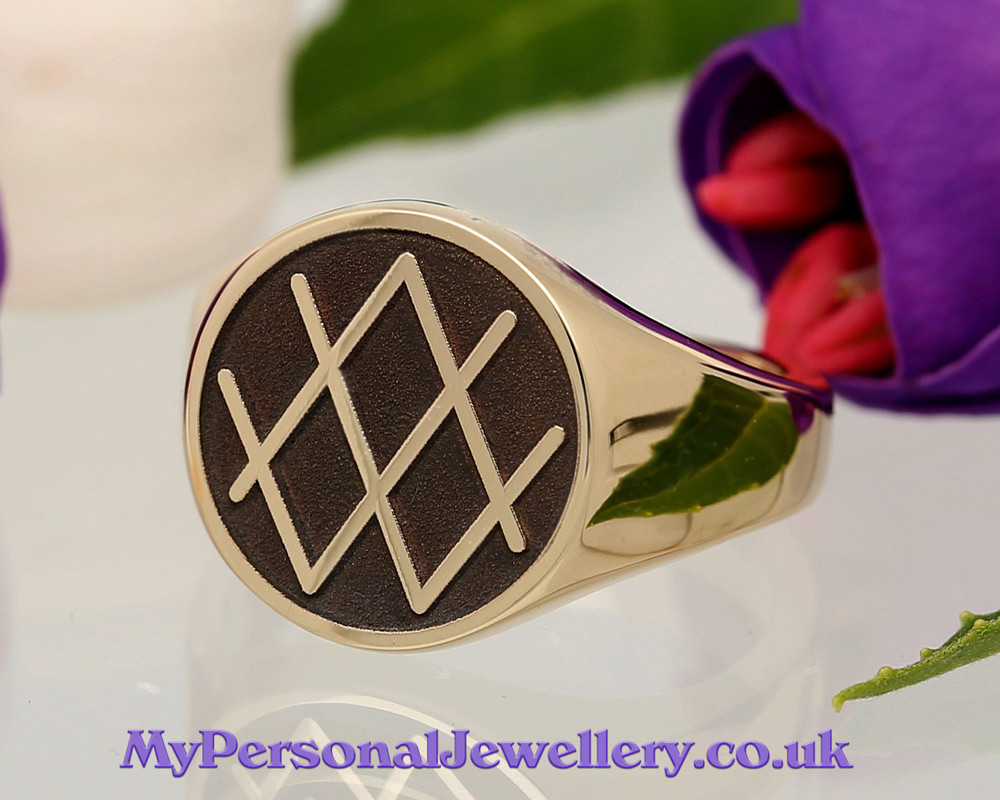 Customer's Own Design 9ct Gold Signet Ring HS42