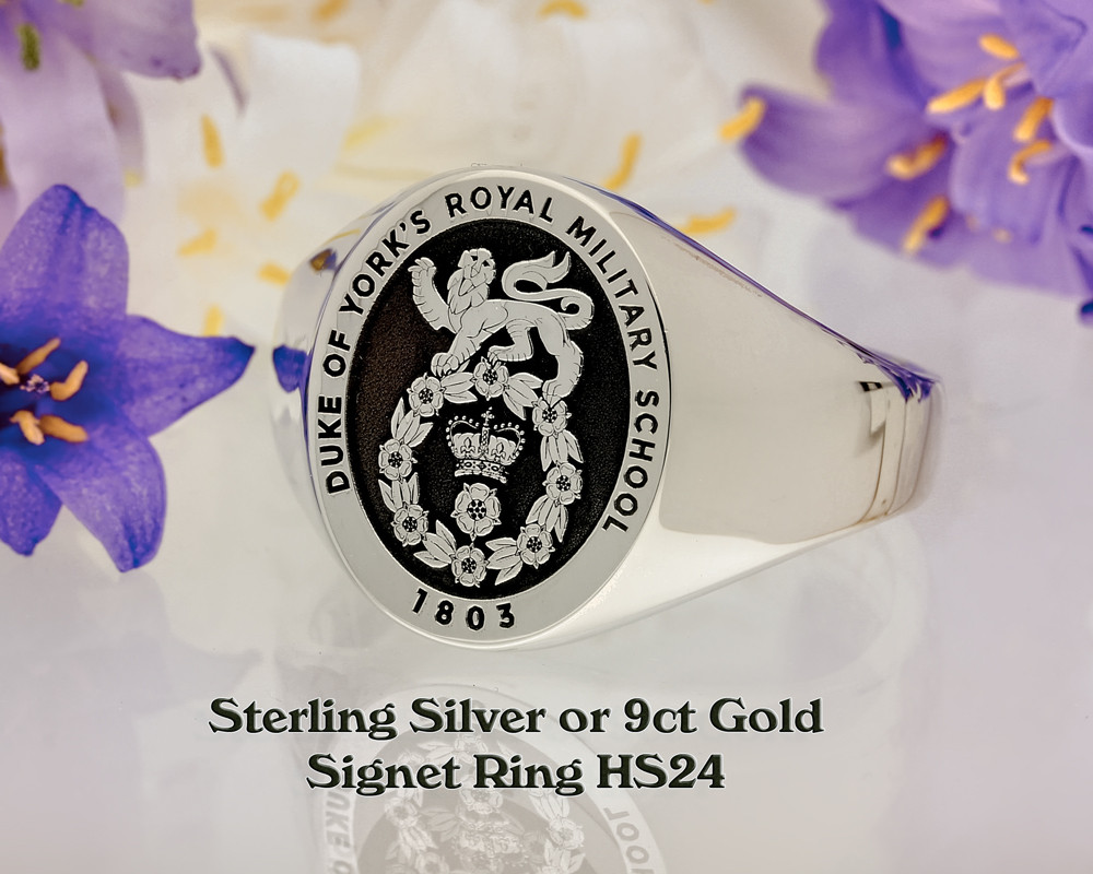 HS24 Sterling Silver Signet Ring - Customer's design