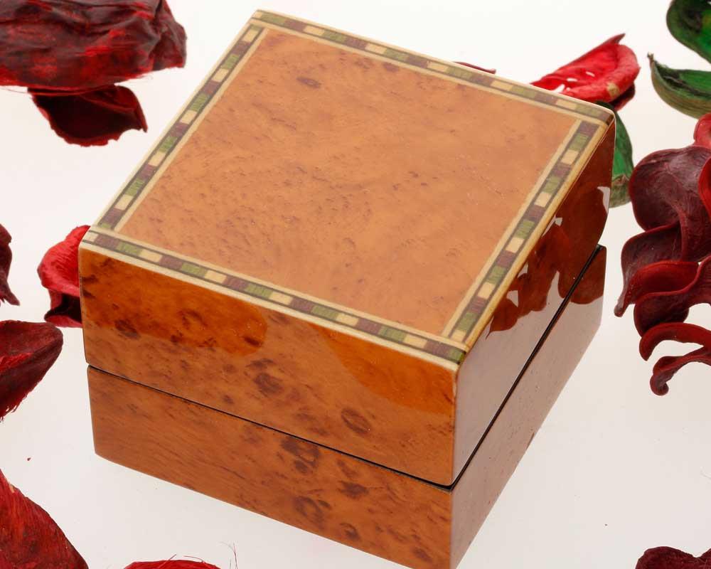 Walnut Finish Ring Box