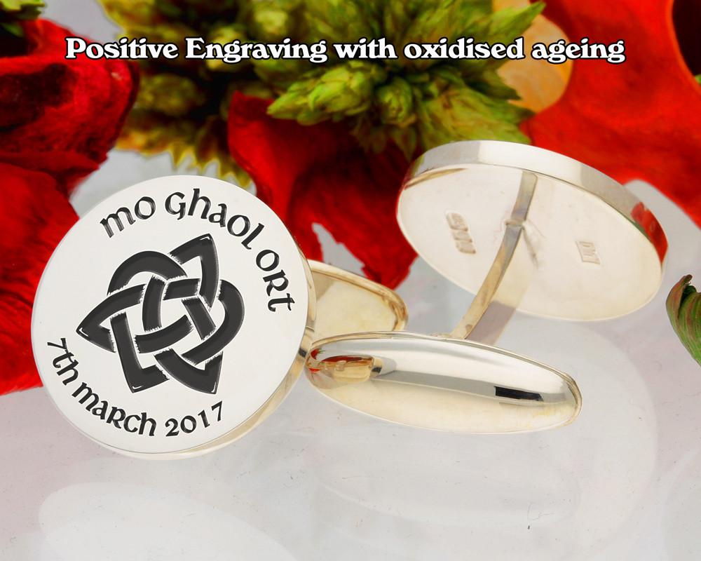 Mo Ghaol Ort Trinity Heart Cufflinks positive