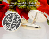 Banks Family Crest Negative Oxidised