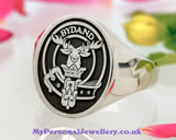 Gordon Scottish Clan Signet Ring Silver HS41