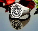 Jones Family Crest Signet Ring HS22