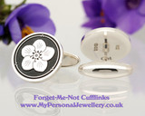 Forget-Me-Not Silver or Gold Cufflinks