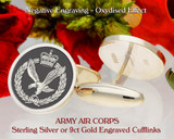 Army Air Corps Laser Engraved Cufflinks