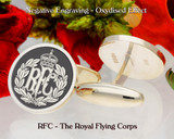 RFC The Royal Flying Corps Negative Engraving Oxidised