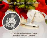 Intelligence Corps Regimental Military Cufflinks Personalised