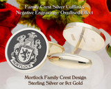 Mortlock Family Crest Cufflinks