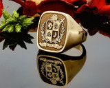 HS39 Family Crest Signet Ring available in Silver or 9ct Gold