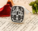 Whittle Family Crest Signet Ring HS39 Silver