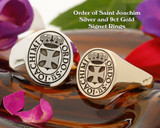 Order of Saint Joachim Silver and 9ct Gold Signet Rings