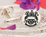 Alford Family Crest Cufflinks - positive oxidised