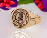 MacLean Scottish Clan Signet Ring, (example round in 9ct yellow gold)