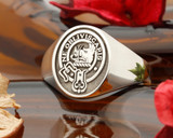 Campbell Scottish Clan Signet Ring, (example oval in Sterling Silver) Negative