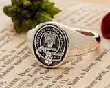 Robertson Scottish Clan Signet Ring Sterling Silver (example Oval negative)
