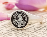 MacGregor Scottish Clan Signet Ring (example silver negative oxidised)