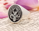 Ross Scottish Clan Signet Ring (example silver negative oxidised)
