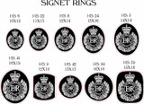 Corps of Royal Engineers Signet Ring, Silver or 9ct Gold, ring shape options