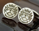 Select Gifts Hewitt Scotland Family Crest Surname Coat Of Arms Gold Cufflinks Engraved Box