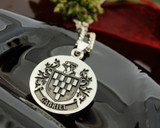 GABRIEL Engraved Pendant design, also available in Silver Cufflinks, other designs also available, full customised.