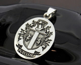 NAYLOR Engraved Pendant design, also available in Silver Cufflinks, other designs also available, full customised.