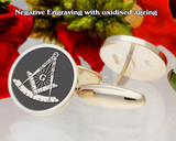 Masonic Square and Compass Cufflinks
