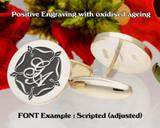 Tudor Rose monogram cufflinks
