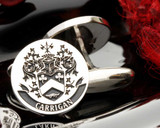 Carrigan Family Crest Silver Cufflinks D80