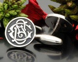 Victorian Monogram GS SG Bespoke Cufflinks Sterling Silver or 9ct Gold