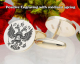 Russian Federation positive engraving oxidised