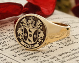 Ford Family Crest Signet Ring 9ct Gold HS42 or HS44